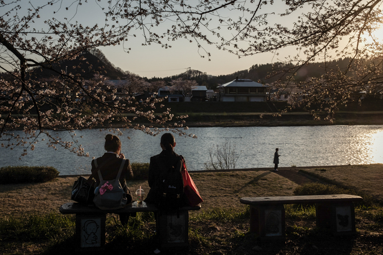 Girls and Cherry Trees, Kakunodate