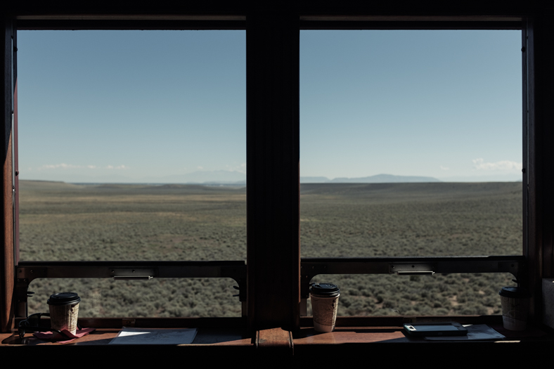 Train Window, New Mexico