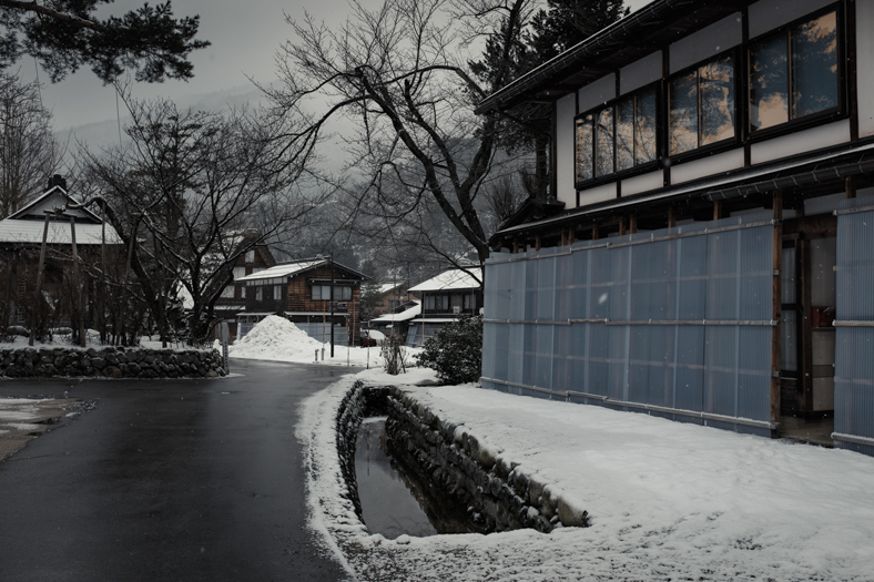 Shirakawago - Street - Reflections   George Nobechi
