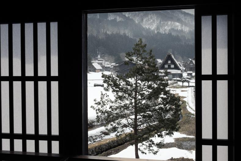 Pine Tree - Snow in Shirakawago   George Nobechi