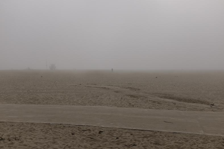 Man in Fog, Venice CA