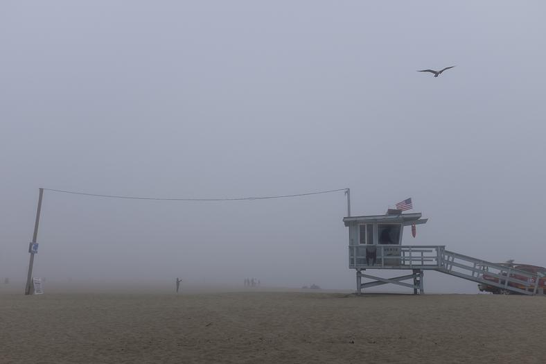 Lifeguard Tower in Fog, Venice
