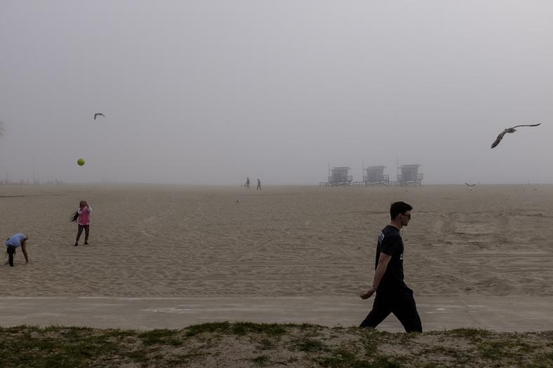 Venice Beach in Fog