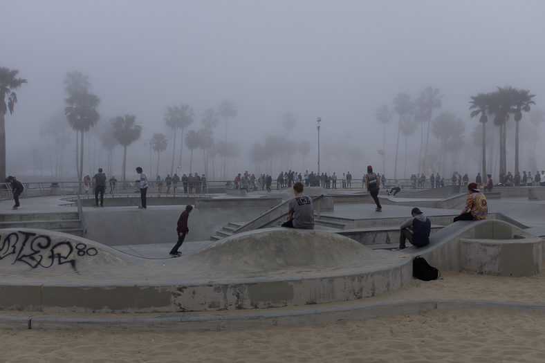Venice Skatepark in Fog (2)